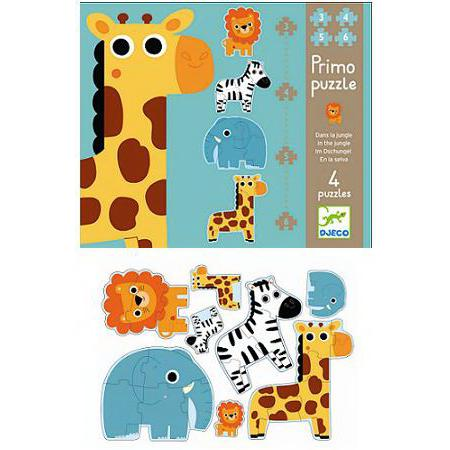 1, 2, 3 and 4 Piece Wild Animal Puzzles